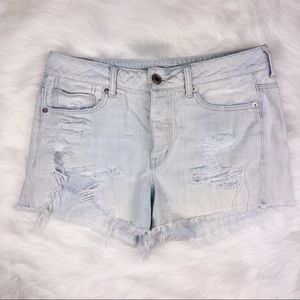American Eagle Sz 8 Tomgirl Distressed Shorts